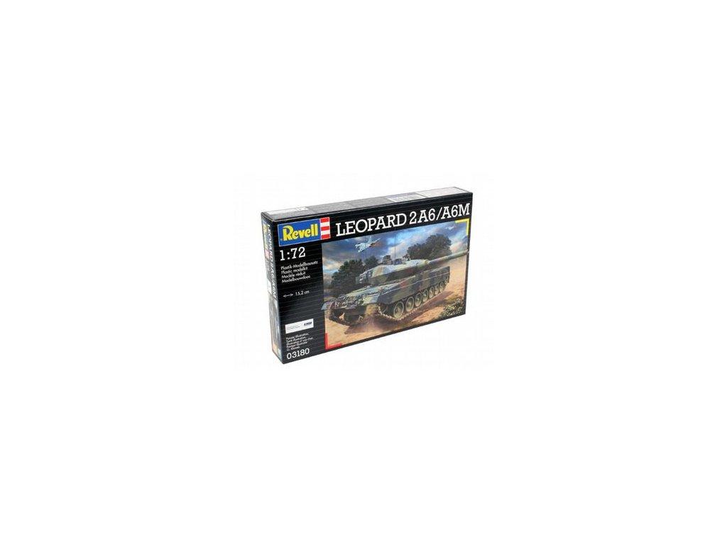 3668 plastovy model military revell 03180 leopard 2 a6m 1 72