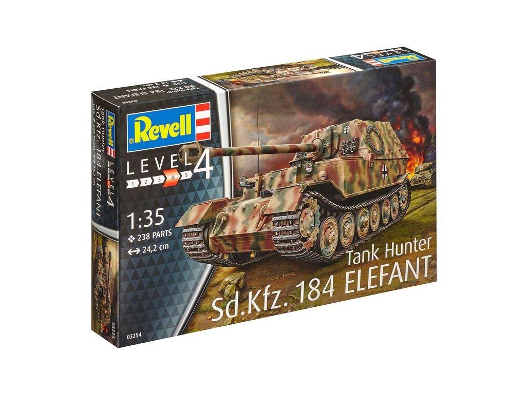 3671 plastovy model military revell 03254 sd kfz 184 tank hunter elefant 1 35