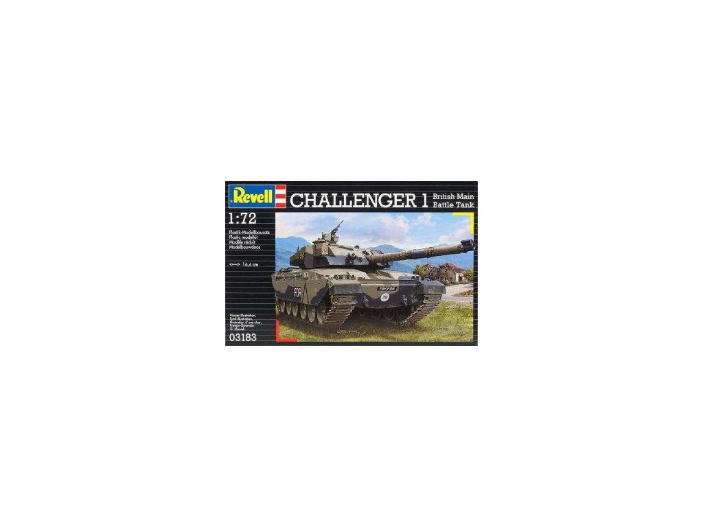 3689 plastovy model revell 03183 british main battle tank challenger i 1 72