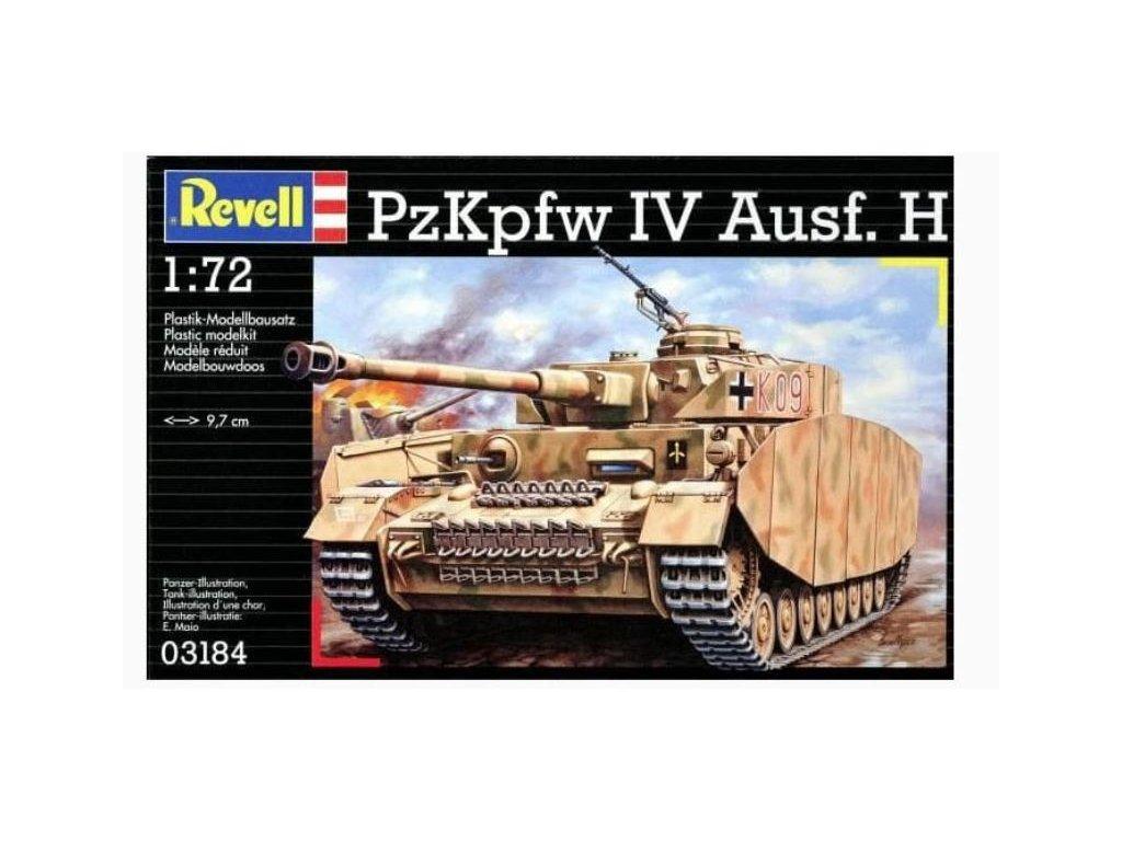 3710 plastovy model military revell 03184 pzkpfw iv ausf h 1 72