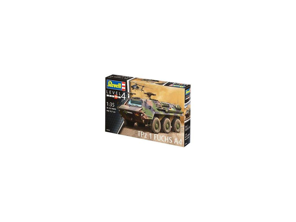 3719 plastovy model military revell 03256 tpz 1 fuchs 1 35