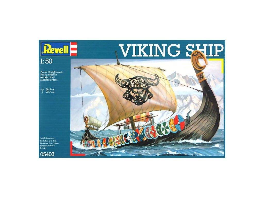 3728 plastovy model lod revell 05403 lod vikingu 1 50
