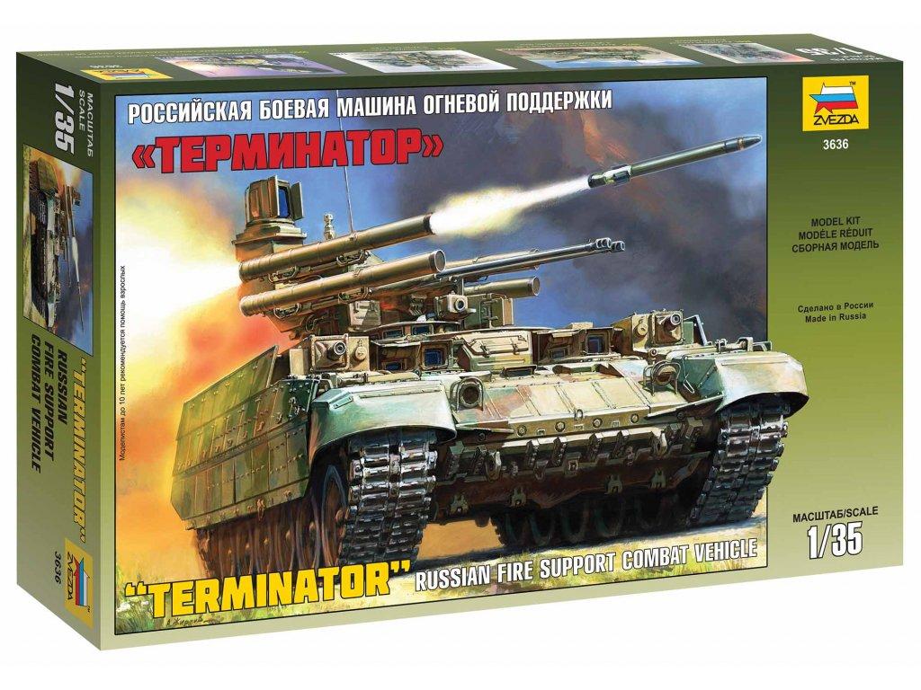 374 model kit military zvezda 3636 bmpt terminator 1 35