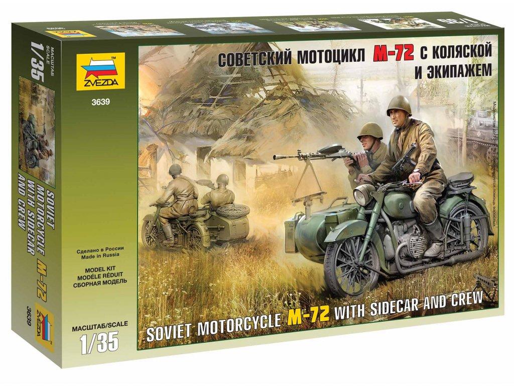 380 model kit figurky zvezda 3639 soviet wwii motorcycle m 72 1 35