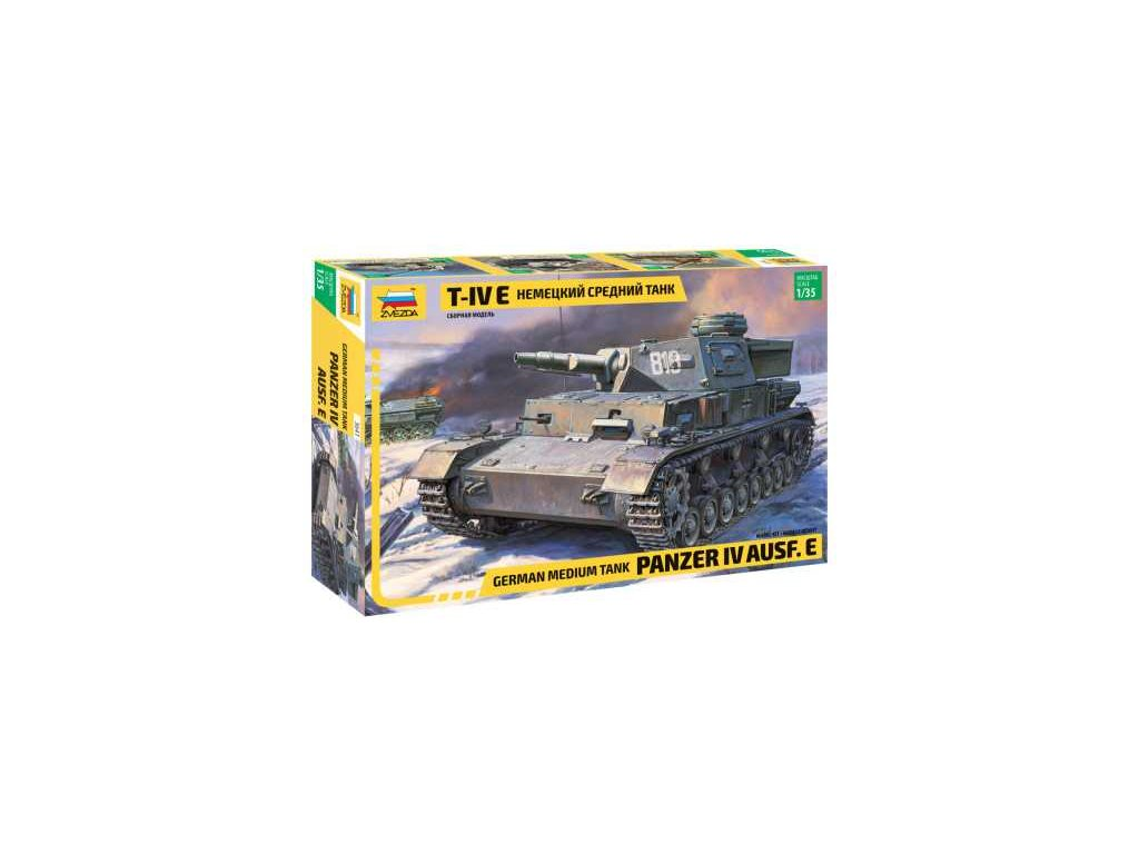 383 model kit tank zvezda 3641 panzer iv ausf e 1 35