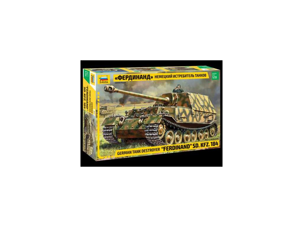 389 model kit tank zvezda 3653 sd kfz 184 ferdinand 1 35