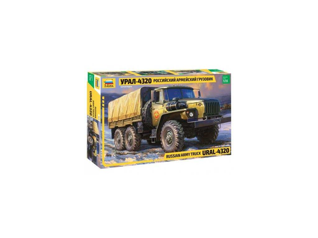 392 model kit military zvezda 3654 russian army truck ural4320 1 35