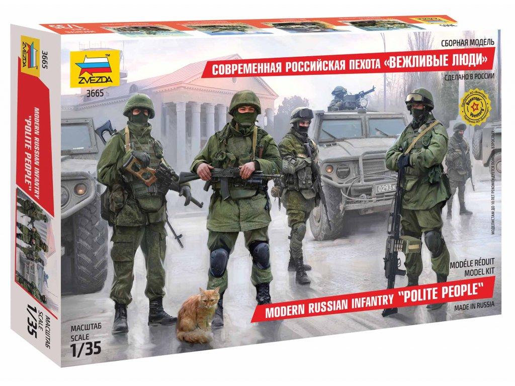 395 model kit figurky zvezda 3665 modern russian infantry 1 35