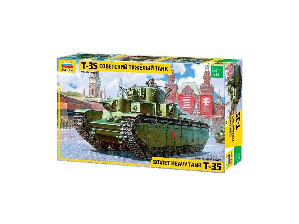 398 model kit tank zvezda 3667 t 35 heavy soviet tank 1 35