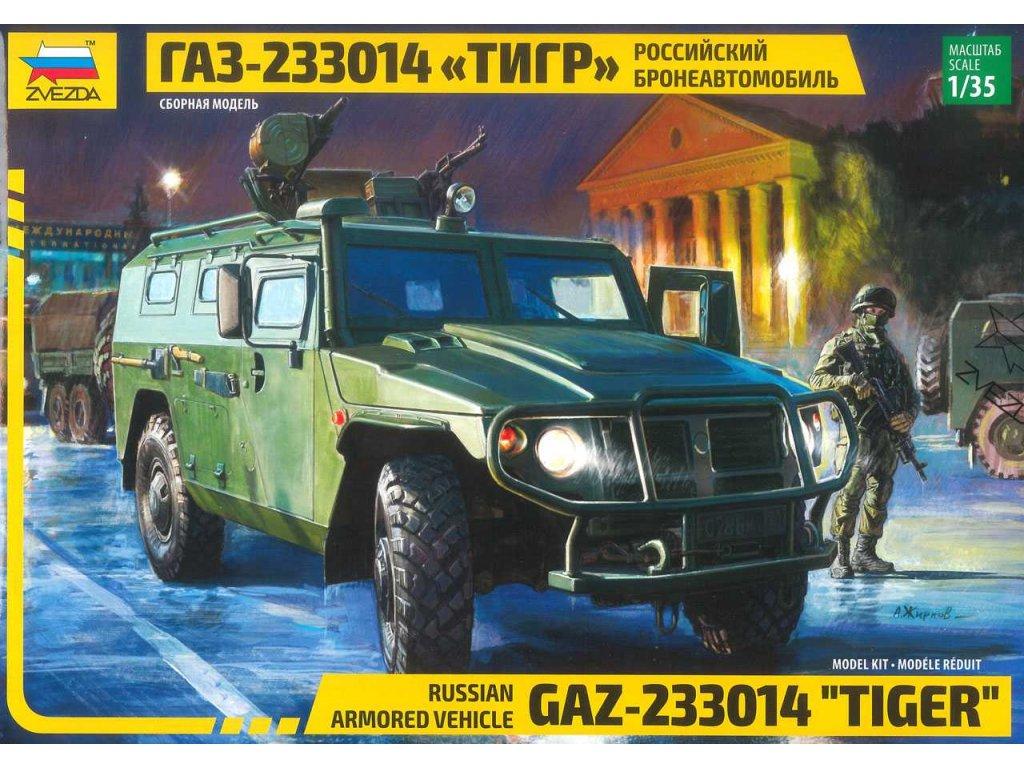 401 model kit military zvezda 3668 russian armored vehicle gaz tiger 1 35