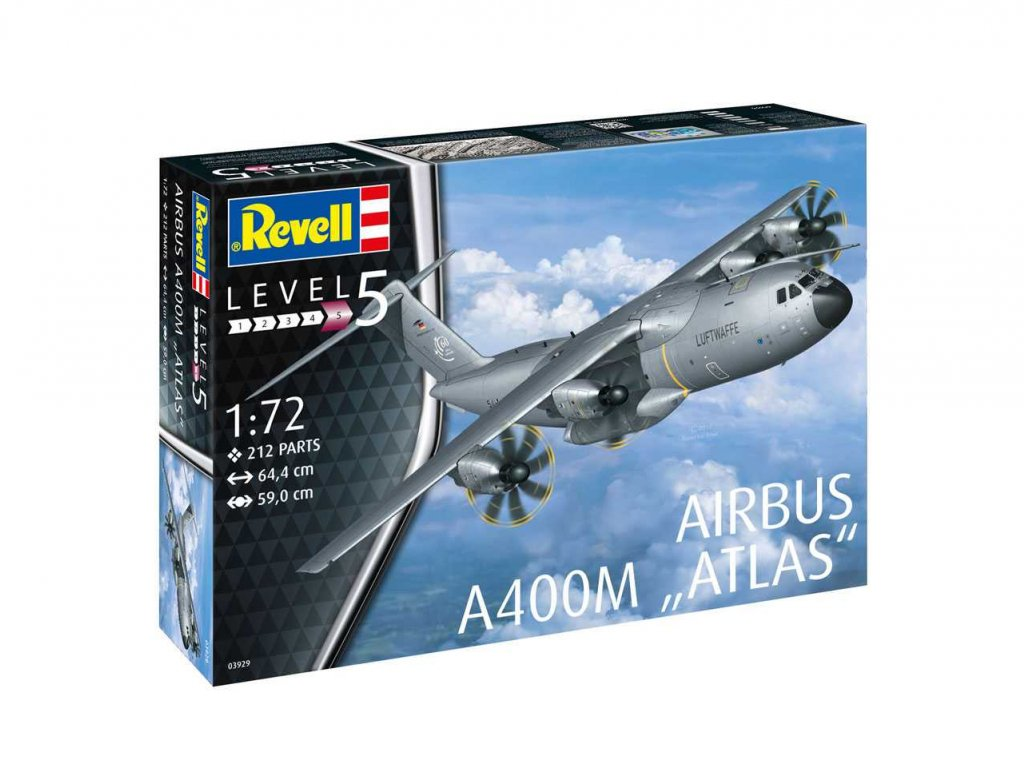 410 plastovy model lietadlo revell 03929 airbus a400m atlas 1 72