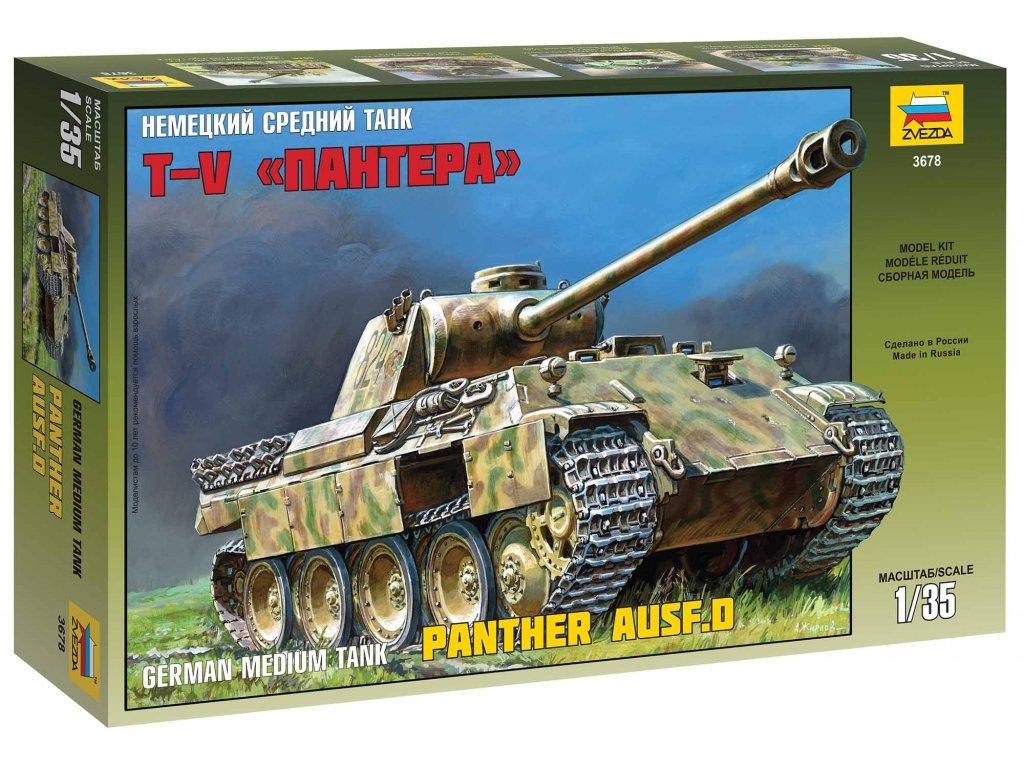 413 model kit tank zvezda 3678 panther ausf d 1 35