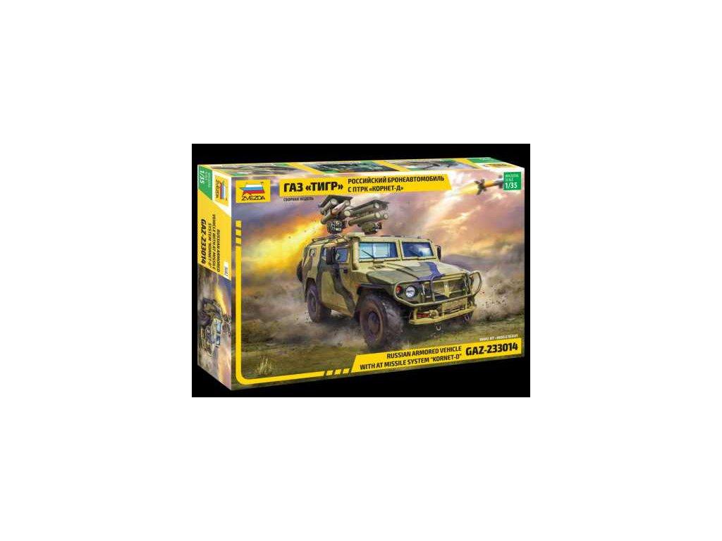 419 model kit military zvezda 3682 gaz with at missile system kornet d 1 35