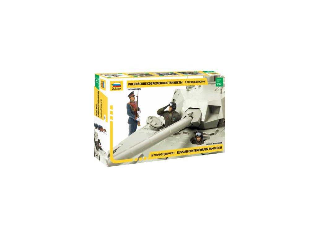 425 model kit figurky zvezda 3685 russian contemporary tank crew 1 35