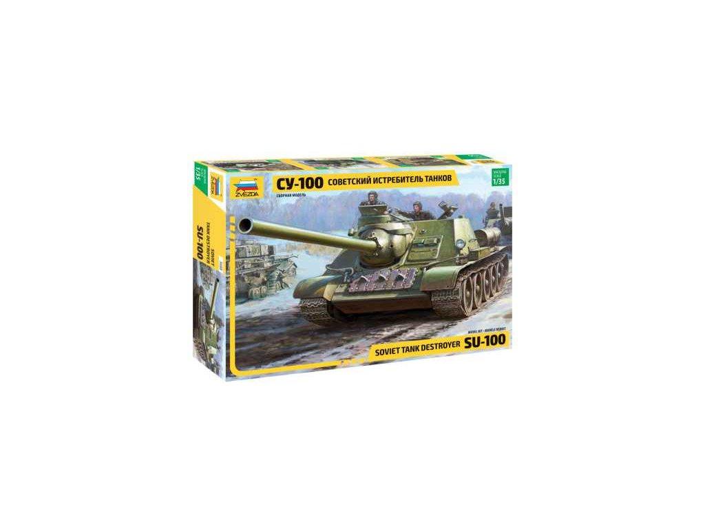 431 model kit tank zvezda 3688 soviet s p gun su 100 new molds 1 35