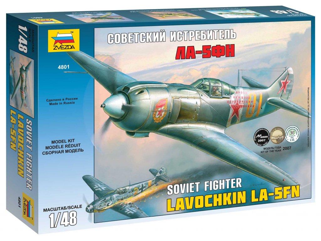 437 model kit lietadlo zvezda 4801 la 5 fn soviet fighter 1 48