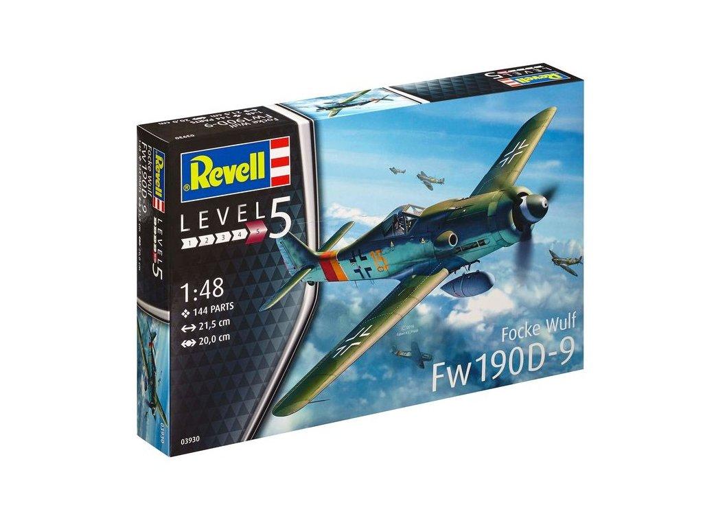 440 plastovy model lietadlo revell 03930 focke wulf fw 190 d 9 1 48