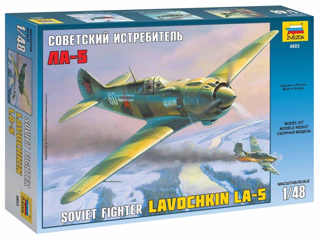 446 model kit lietadlo zvezda 4803 lavochkin la 5 1 48