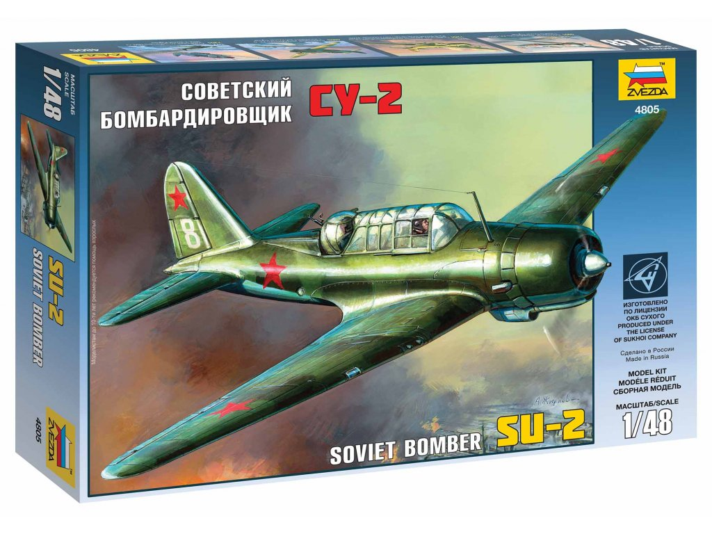 449 model kit lietadlo zvezda 4805 su 2 soviet light bomber 1 48