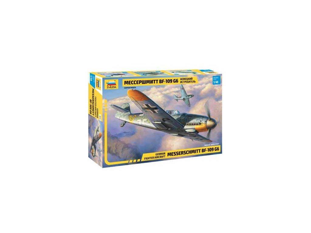 461 model kit lietadlo zvezda 4816 messerschmitt bf 109 g6 1 48