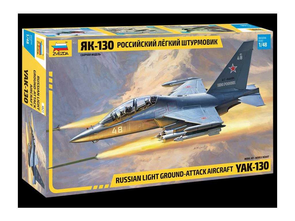 464 model kit lietadlo zvezda 4821 yak 130 russian trainer fighter 1 48