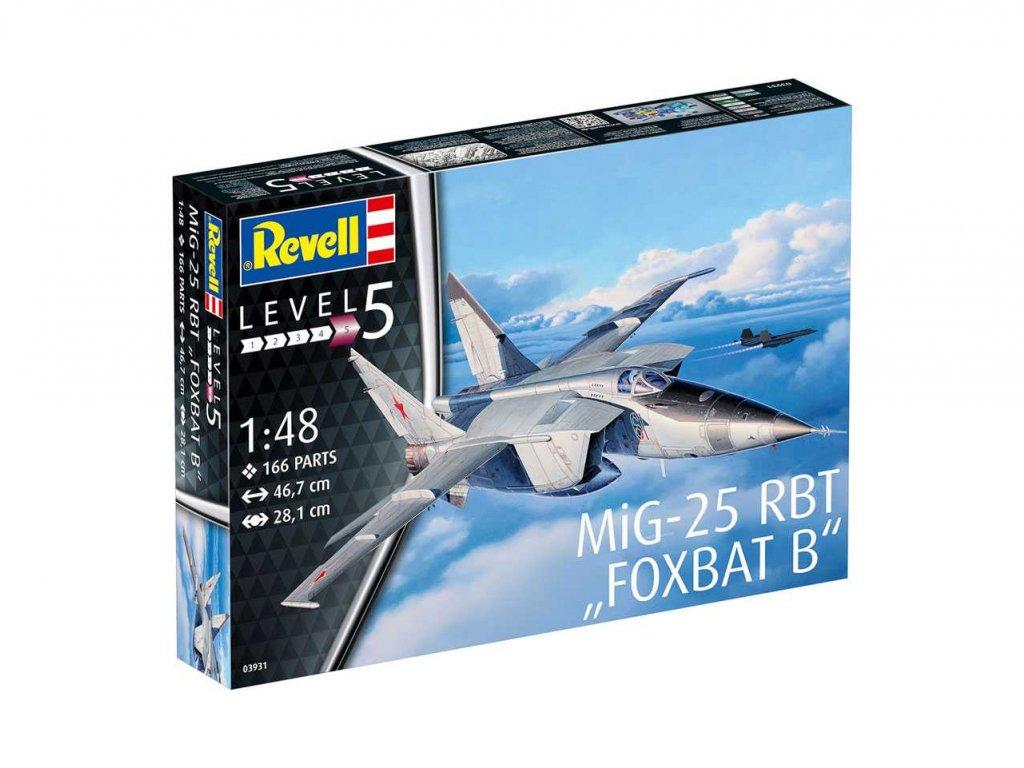 473 plastovy model lietadlo revell 03931 mig 25 rbt foxbat b 1 48