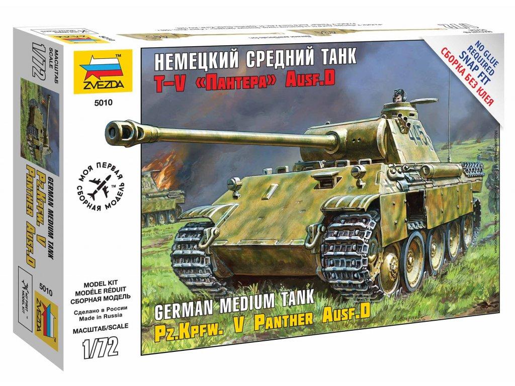 479 snap kit tank zvezda 5010 panzerkampfw v panther ausf d 1 72