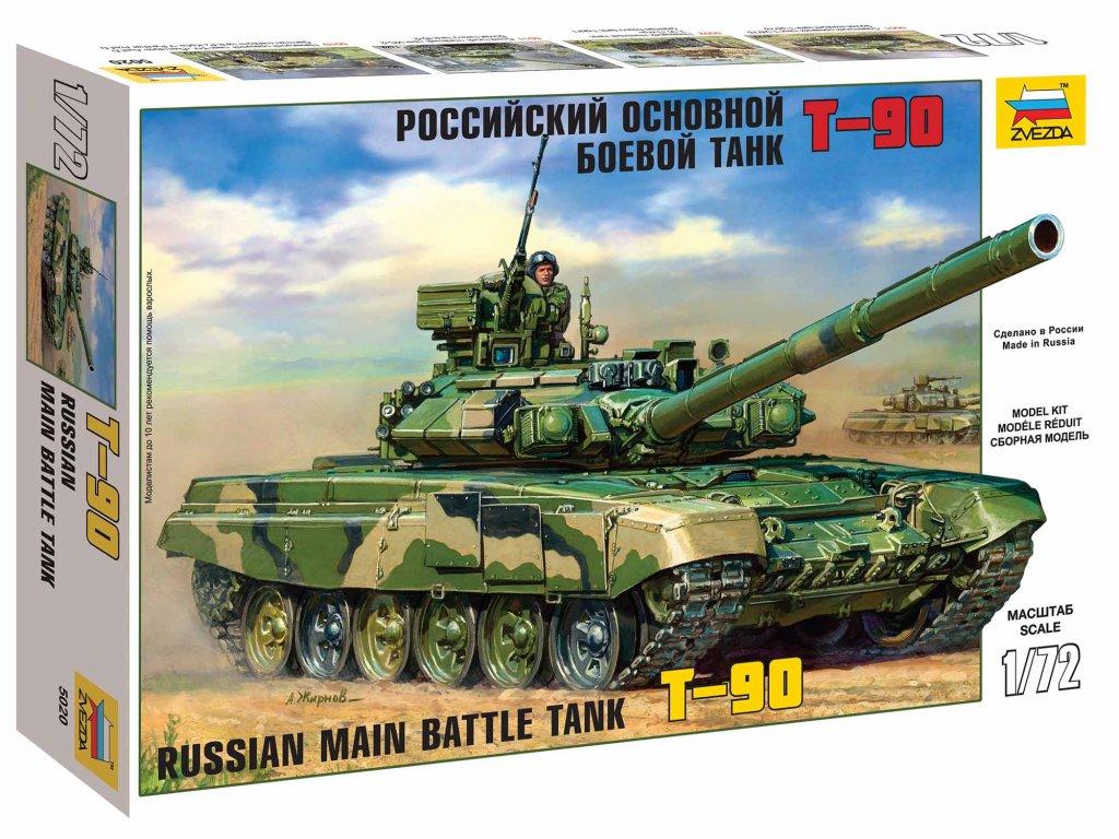 488 model kit tank zvezda 5020 t 90 1 72