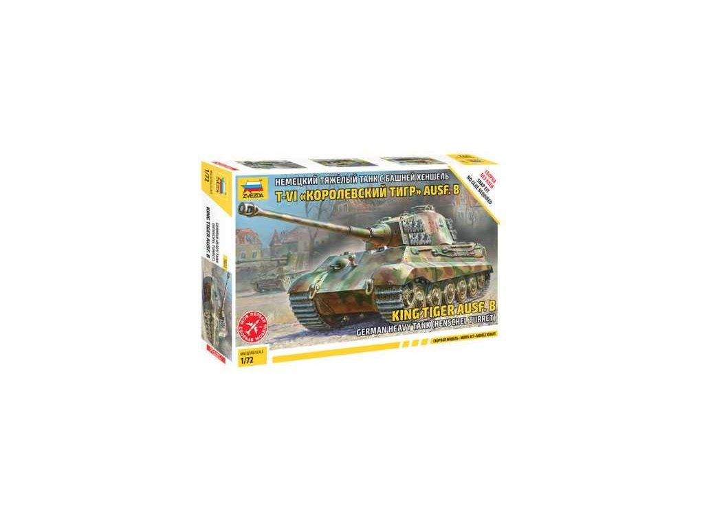 491 snap kit tank zvezda 5023 sd kfz 182 king tiger henschel 1 72