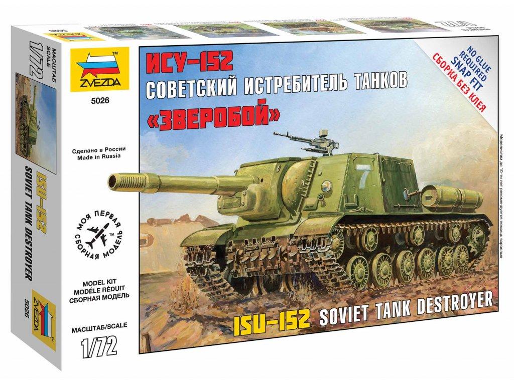 494 snap kit military zvezda 5026 self propelled gun isu 152 1 72