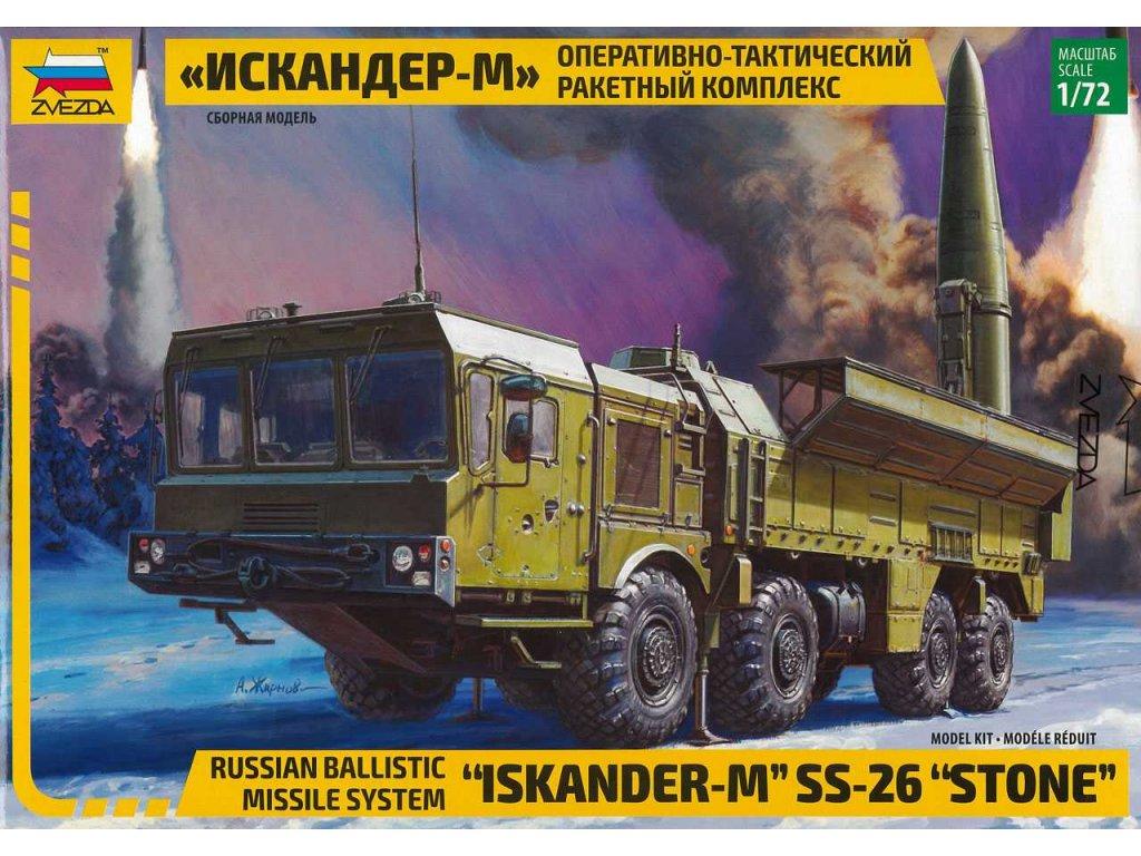 497 model kit mil zvezda 5028 ballistic missile system iskander m ss 26 1 72