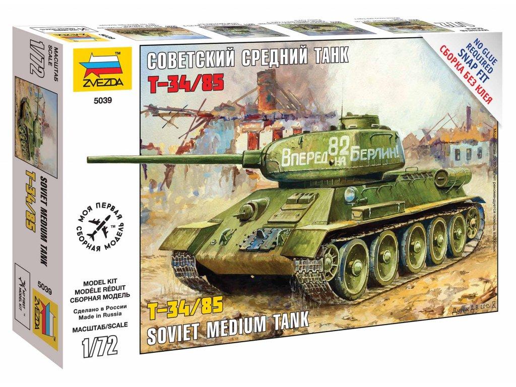 500 snap kit tank zvezda 5039 t 34 85 1 72