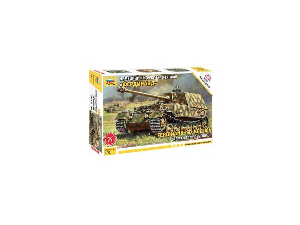 503 model kit tank zvezda 5041 ferdinand sd kfz 184 1 72