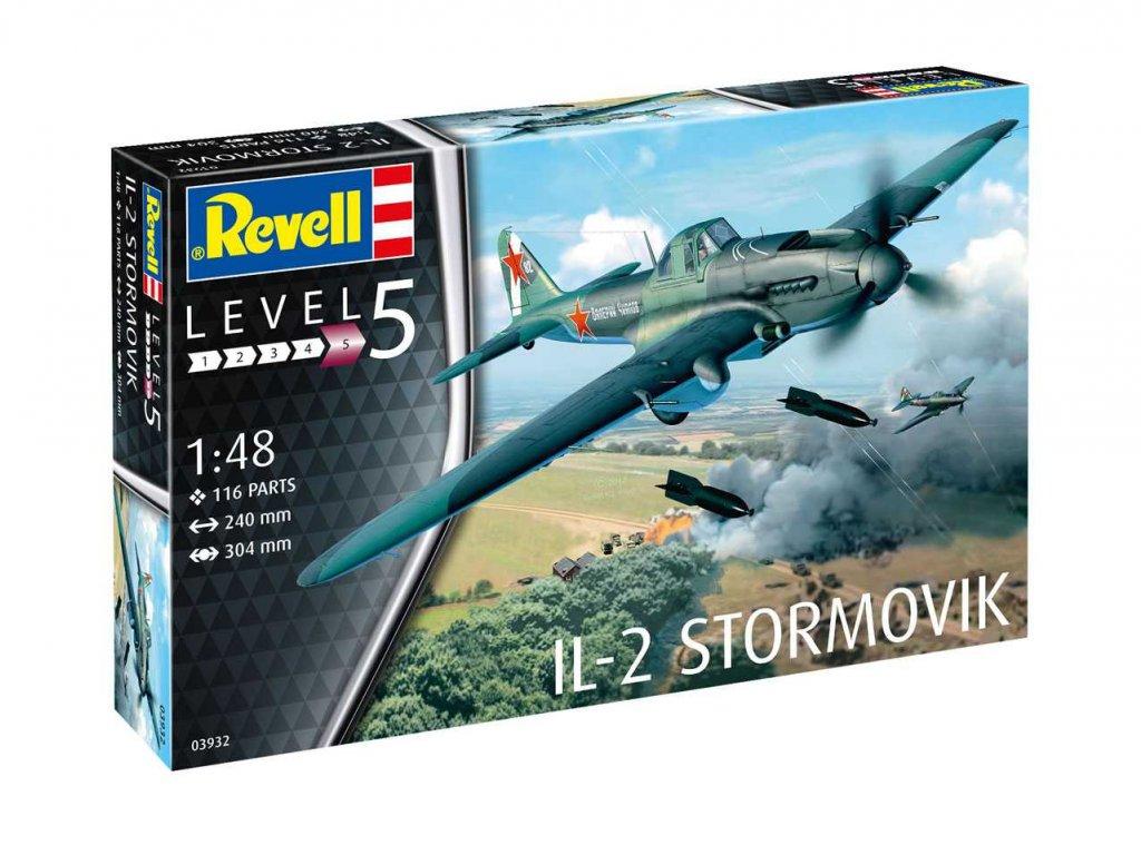 506 plastovy model lietadlo revell 03932 il 2 stormovik 1 48
