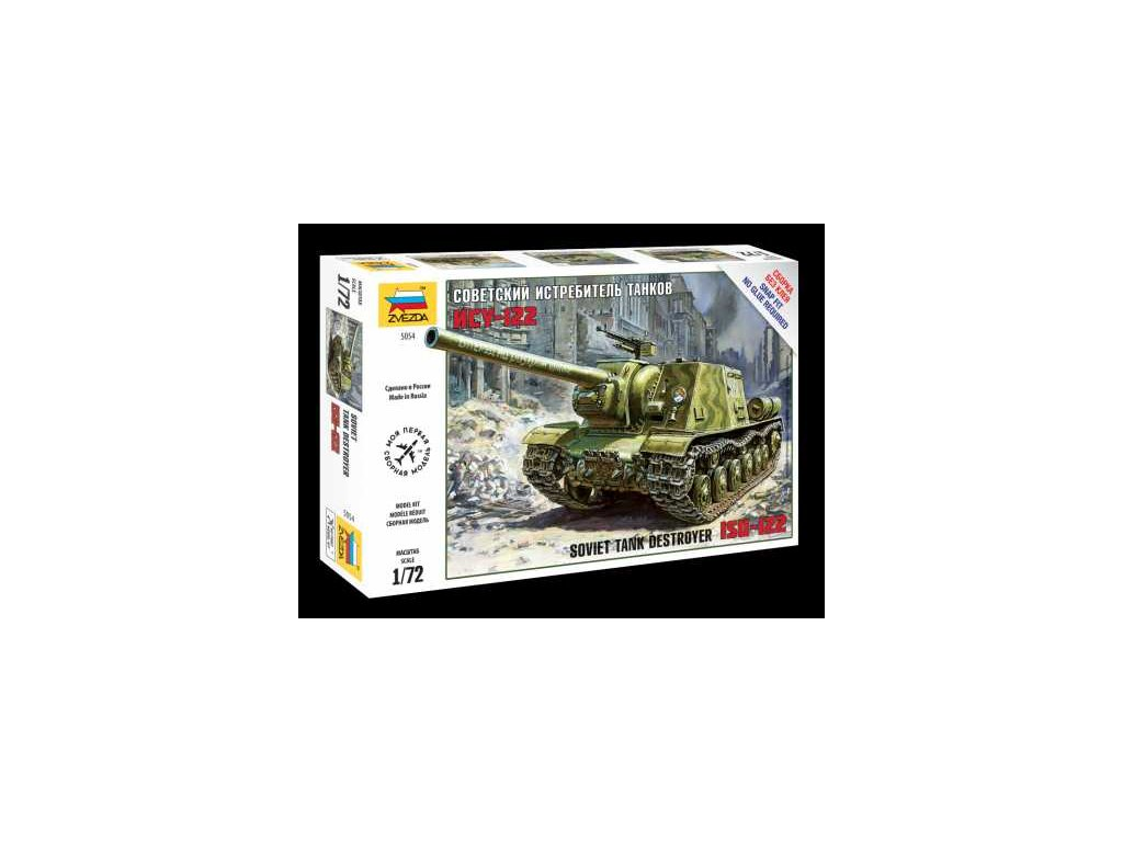 518 snap kit tank zvezda 5054 soviet tank destroyer isu 122 1 72