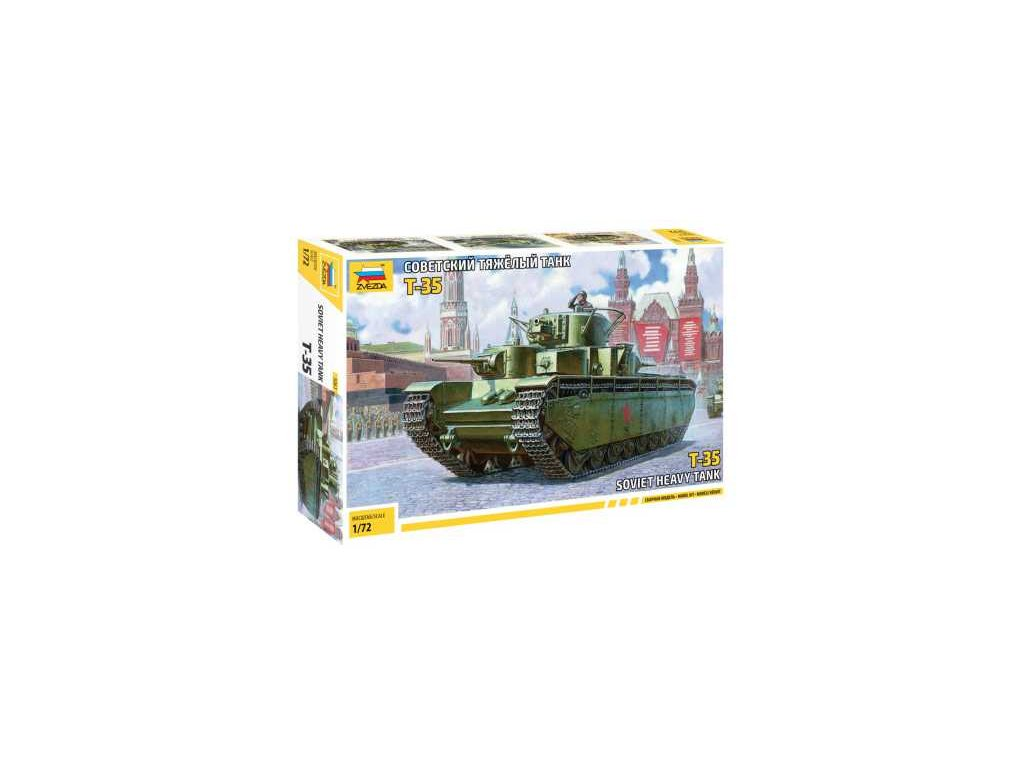 524 model kit tank zvezda 5061 soviet heavy tank t 35 1 72