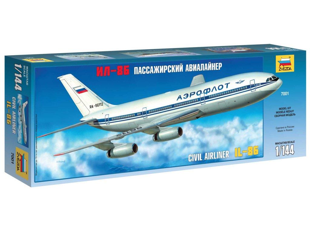 530 model kit lietadlo zvezda 7001 ilyushin il 86 1 144