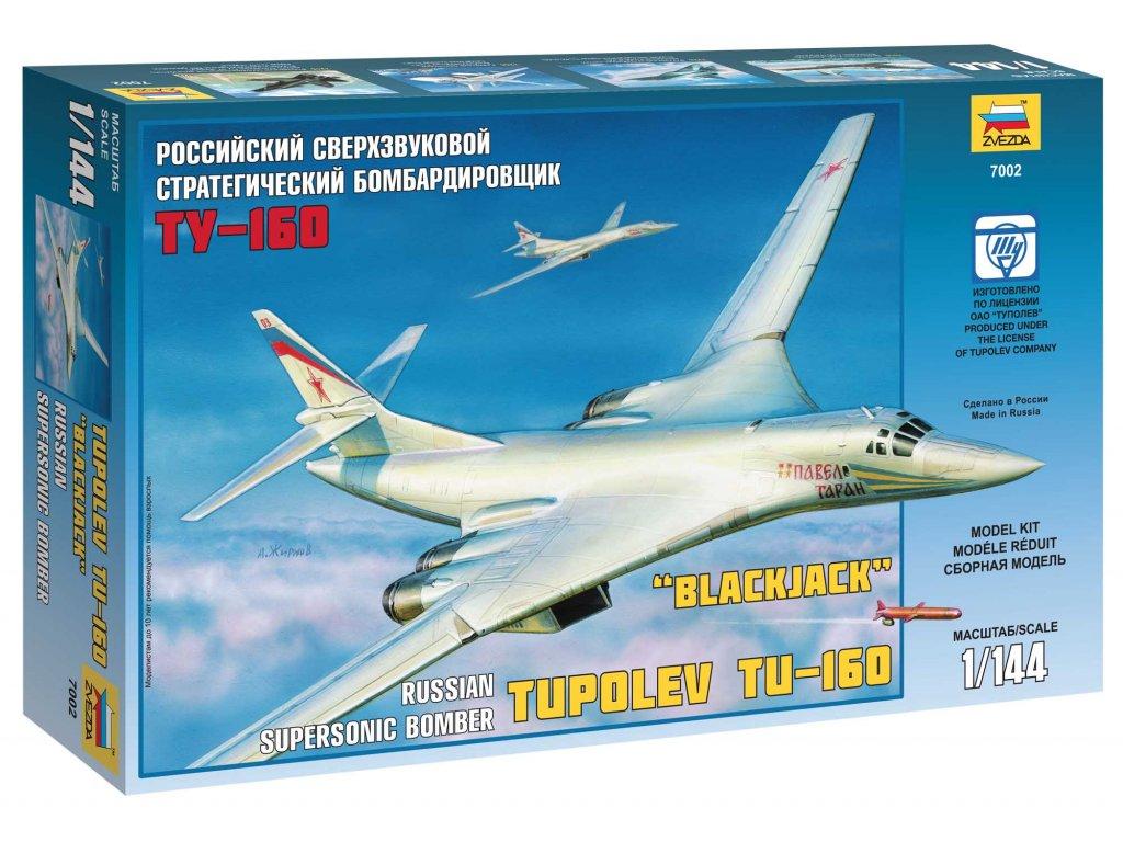 533 model kit lietadlo zvezda 7002 tupolev tu 160 russian strategic bomber 1 144