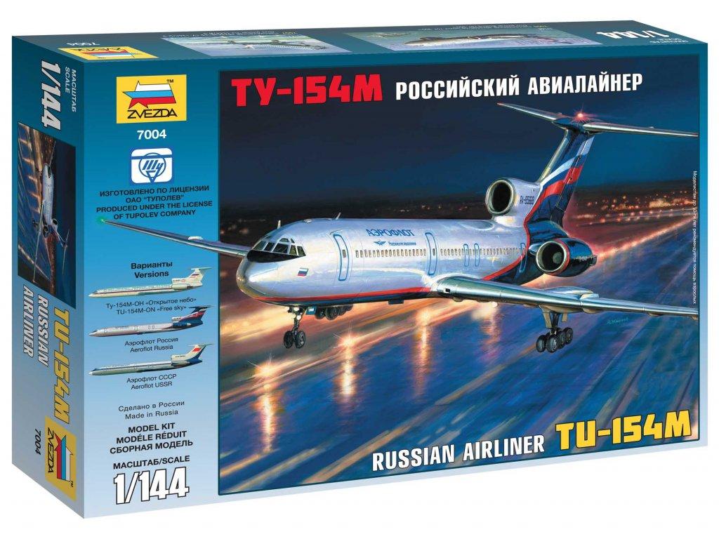 542 model kit lietadlo zvezda 7004 tu 154m russian airliner 1 144