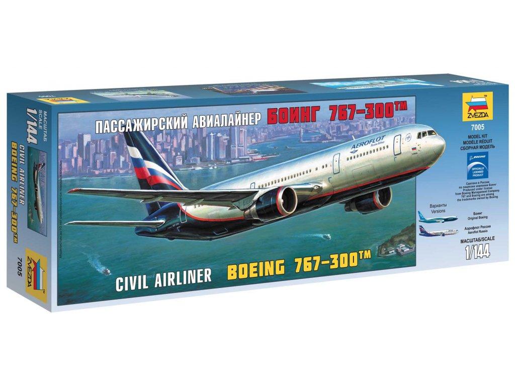 545 model kit lietadlo zvezda 7005 boeing 767 300 1 144