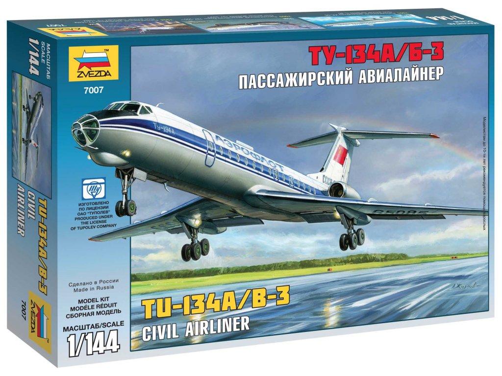 548 model kit lietadlo zvezda 7007 tupolev tu 134b 1 144