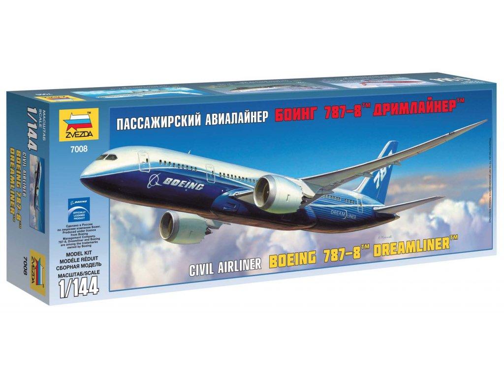 551 model kit lietadlo zvezda 7008 boeing 787 8 dreamliner 1 144