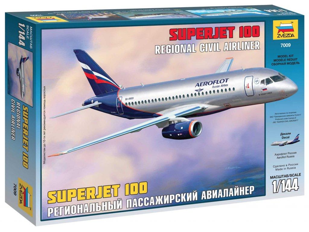 554 model kit lietadlo zvezda 7009 sukhoi superjet 100 1 144