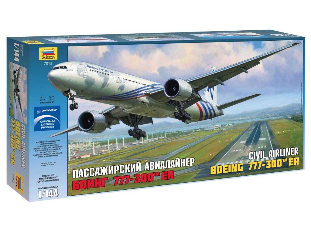 563 model kit lietadlo zvezda 7012 boeing 777 300er 1 144