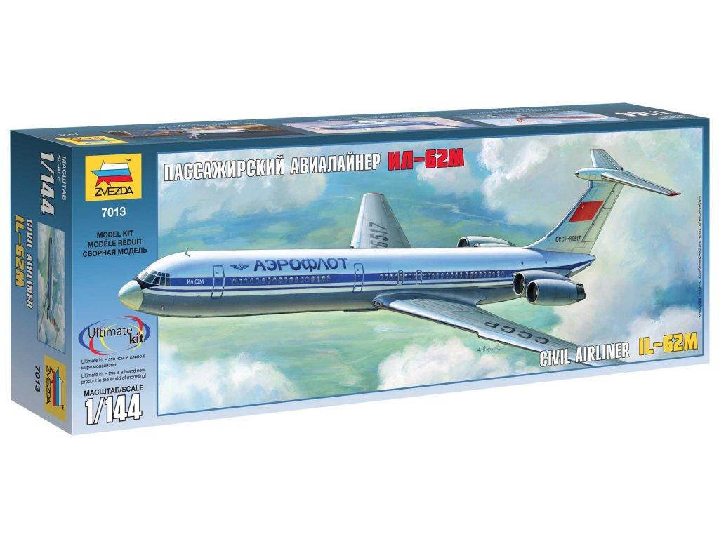 566 model kit lietadlo zvezda 7013 ilyushin il 62m 1 144