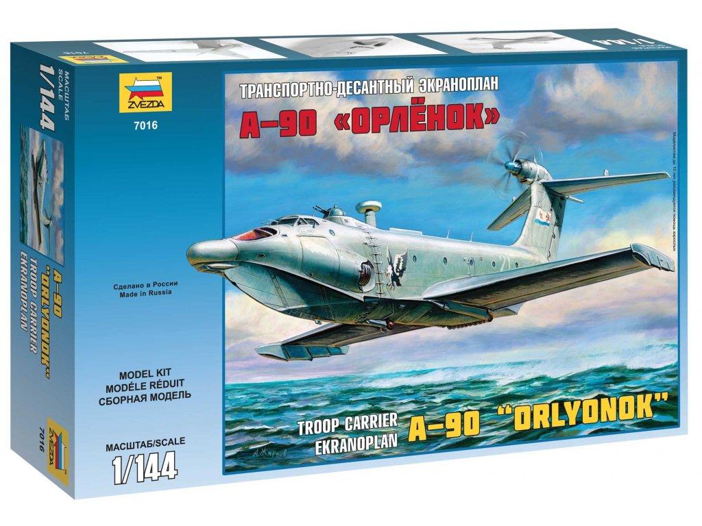 569 model kit ekranoplan zvezda 7016 ekranoplan a 90 1 144
