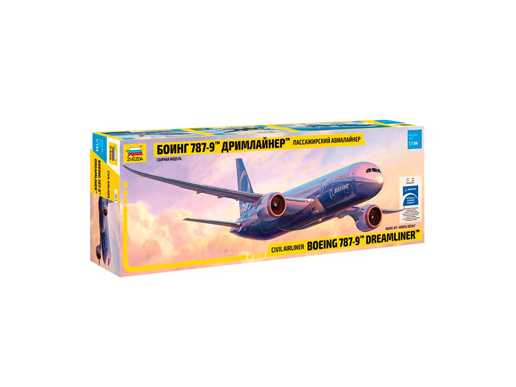 578 model kit lietadlo zvezda 7021 boeing 787 9 dreamliner 1 144