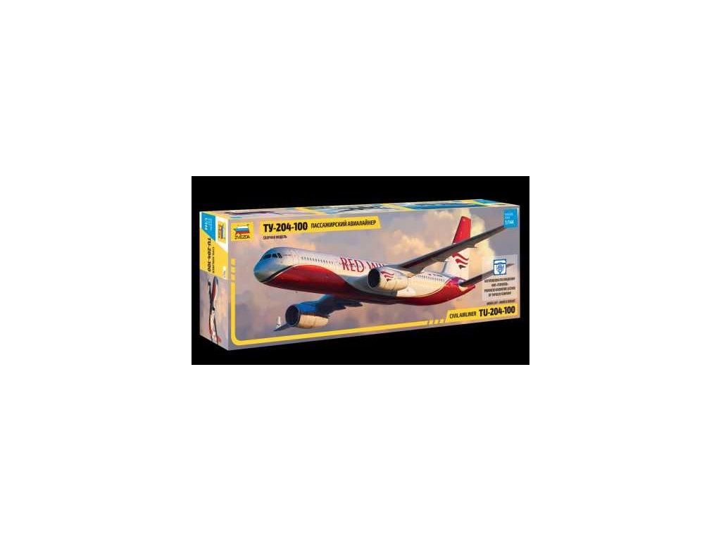 581 model kit lietadlo zvezda 7023 tupolev tu 204 100 1 144