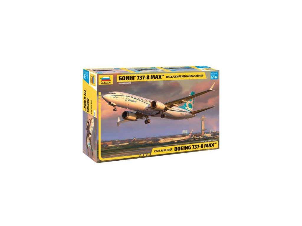 587 model kit lietadlo zvezda 7026 boeing 737 8 max 1 144
