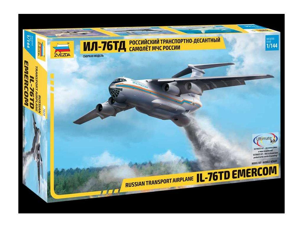 590 model kit lietadlo zvezda 7029 il 76 td emercom 1 144